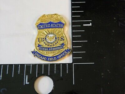 United States Federal Air Marshal Chicago Field Office Fam Pin Bg#40