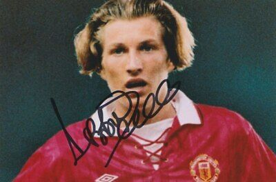 Robbie Savage Hand Signed 6x4 Photo Manchester United Autograph