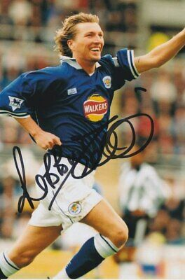 Robbie Savage Hand Signed 6x4 Photo Leicester City Autograph
