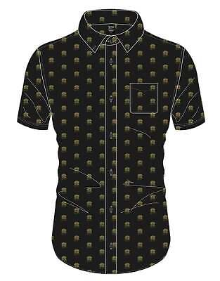 Queen Shirt Classic Crest Band Logo All Over Print new Official Mens Black