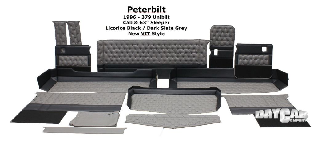 Peterbilt 379 Unibilt Cab 63 Sleeper Upholstery Kit Interior 1 Of 3only Available