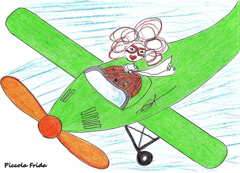 illustrazione aereo antico vintage - sky - disegno di Susanna Albini