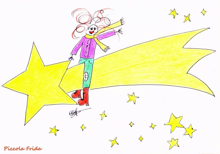 disegno stella cometa - natale - illustrazione di Susanna Albini