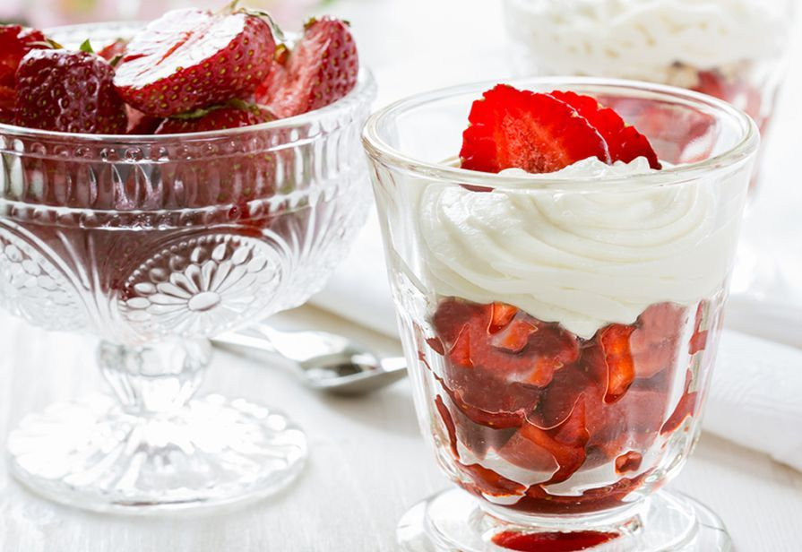 Coppe di fragole al mascarpone