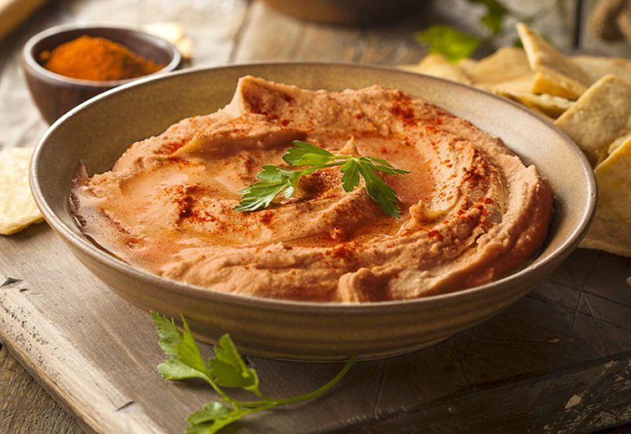 Hummus ai peperoni