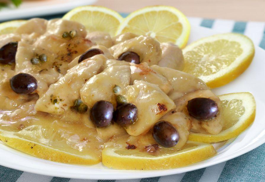 Pollo con olive capperi e limone