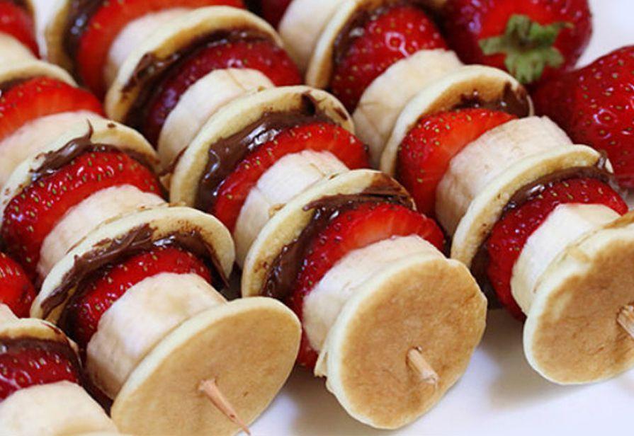 Spiedini di pancake