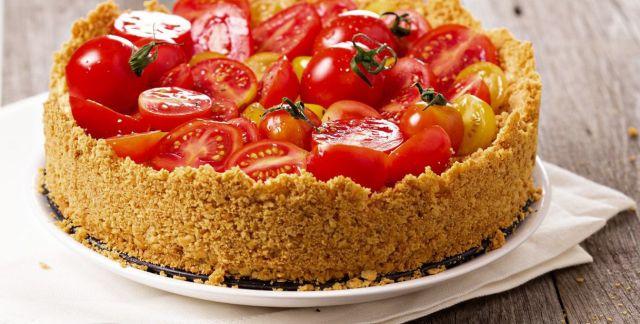 Cheesecake salata ai pomodori