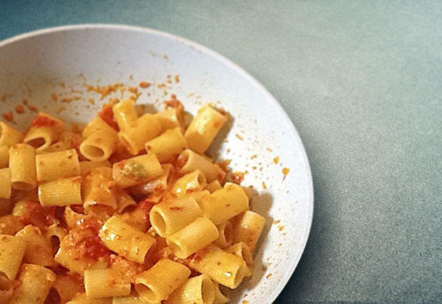 Pasta peperoni e gorgonzola