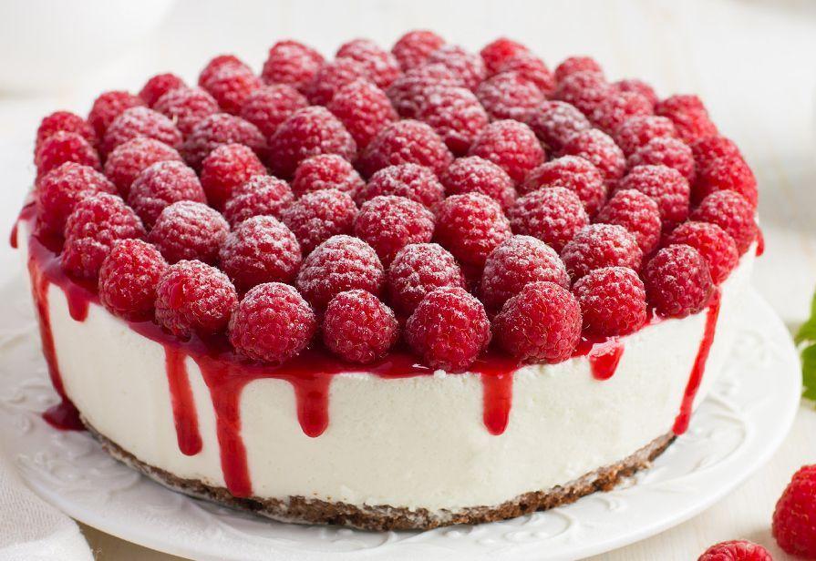 Cheesecake bianca ai lamponi
