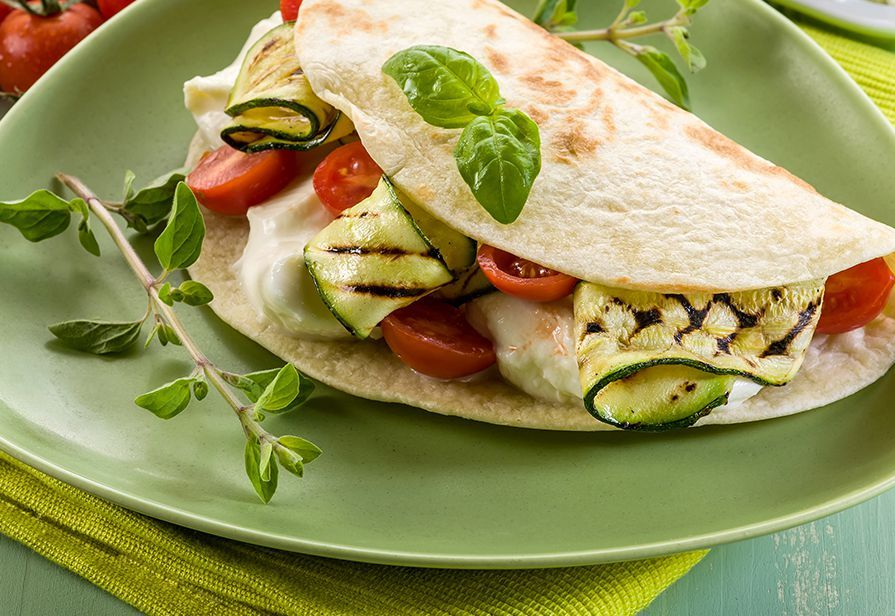 Piadina alla burrata e verdure