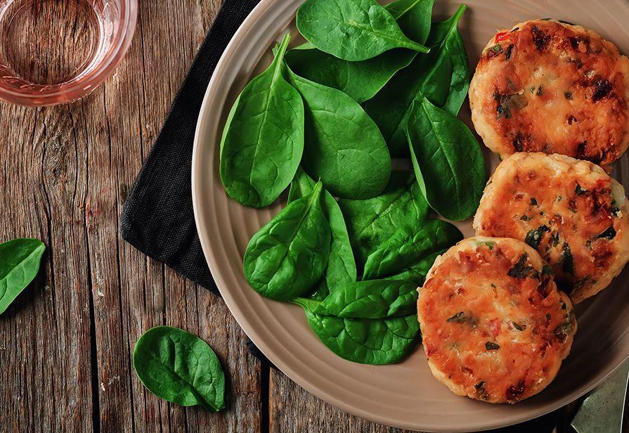 Polpette di salmone e spinacini