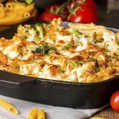Pasta al forno con broccoli e cavolfiori