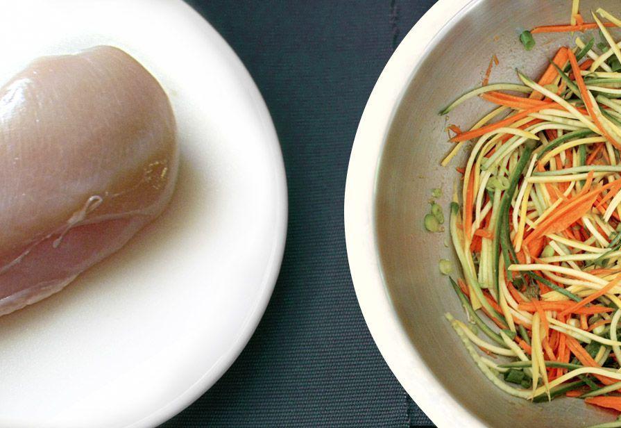 Tagliata di pollo alle verdure
