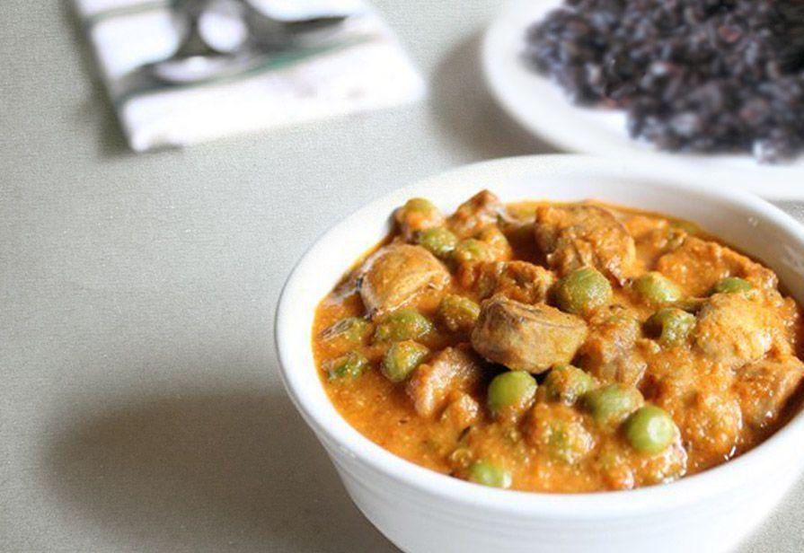 Pollo al curry con riso venere