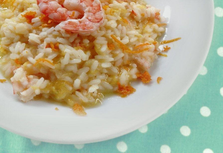 Risotto arancia e gamberetti