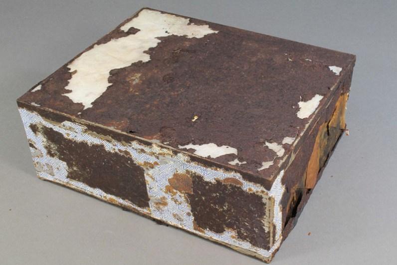 La scatola della torta (Foto dell'Antarctic Heritage Trust)