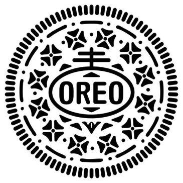 Il disegno attuale dei biscotti Oreo