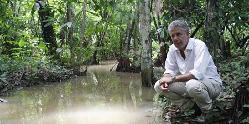 Anthony Bourdain nella foresta di Combu Island