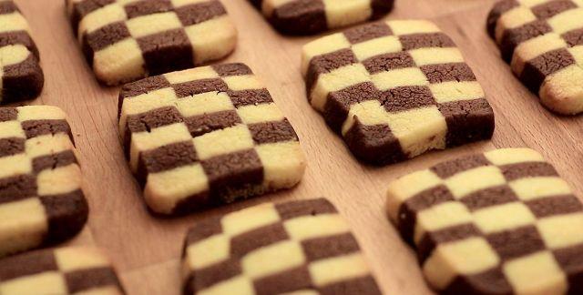 Biscotti a scacchi