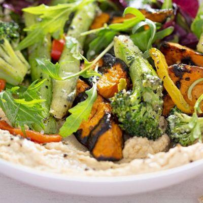 Hummus con verdure