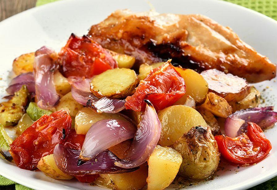 Alette di pollo con verdure