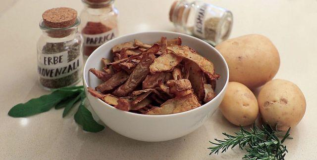 Bucce di patate al forno