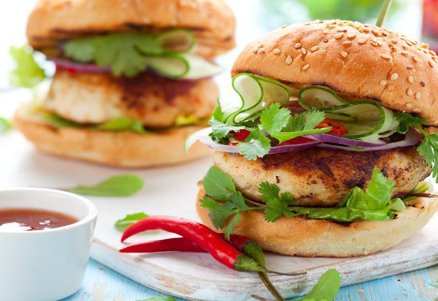 Hamburger piccanti al pollo
