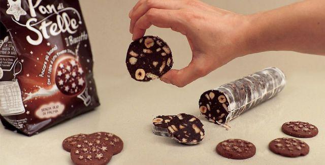 Salame di cioccolato ai pan di stelle