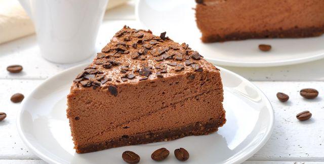 Torta mousse al cioccolato e caffè