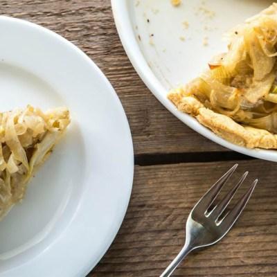 Torta salata cipolle e carciofi