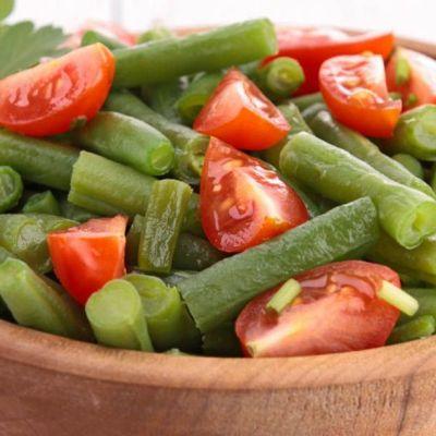 Insalata di fagiolini e pomodori