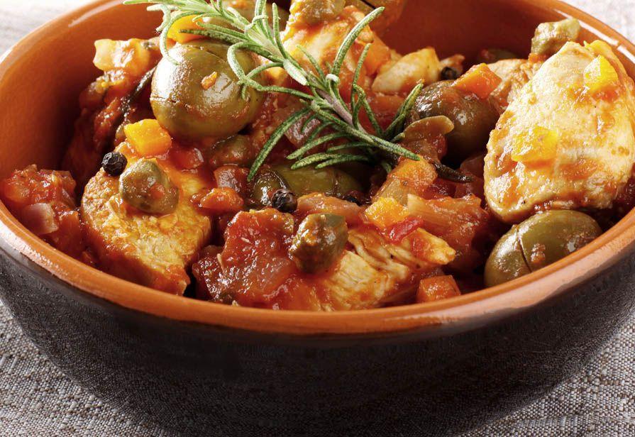 Bocconcini di pollo alle olive