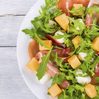 Insalata di prosciutto e melone