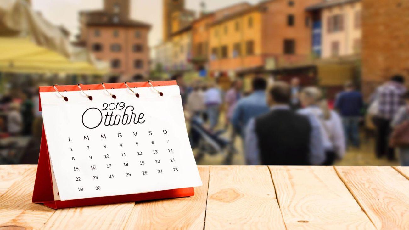 Calendario goloso di ottobre 2019