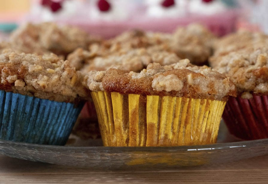 Muffin glassati alla nocciola