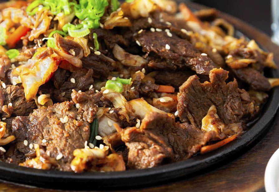 Straccetti di manzo al kimchi