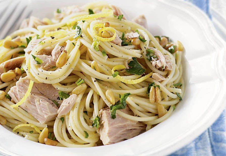 Spaghetti al tonno e limone