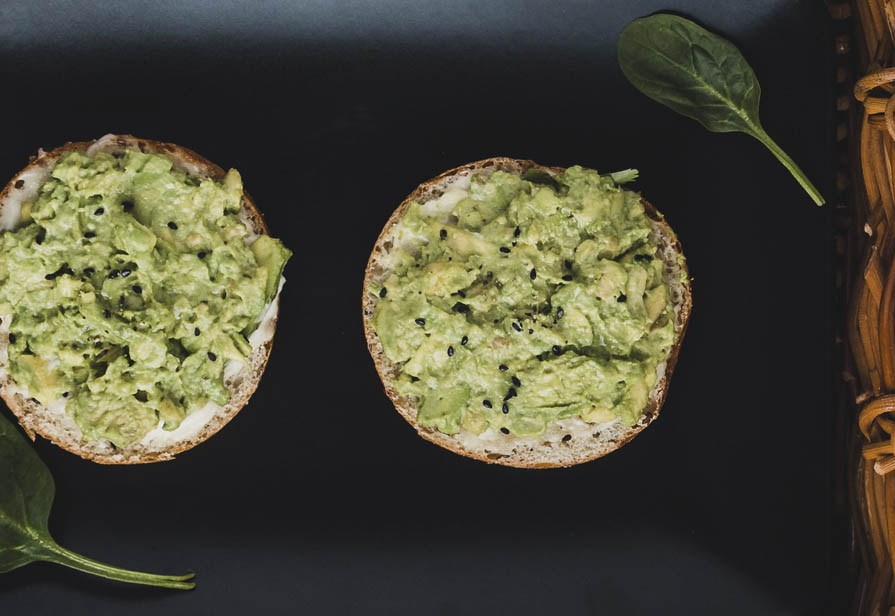 Tartine all'avocado