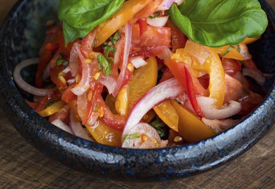 Insalata agrodolce di pomodori e peperoni