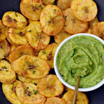 Platano al forno con guacamole
