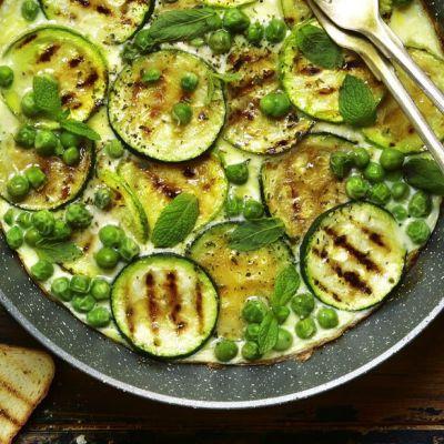 Frittata di zucchine e piselli