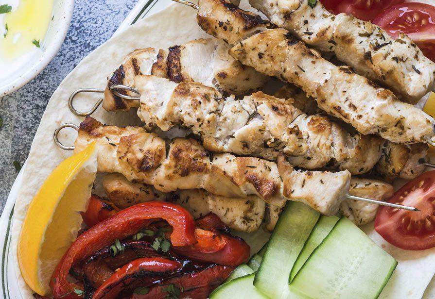 Spiedini di pollo marinati