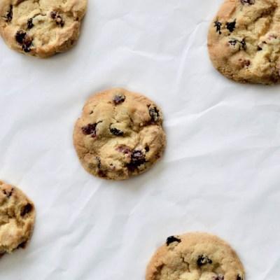 Cookies ai mirtilli secchi
