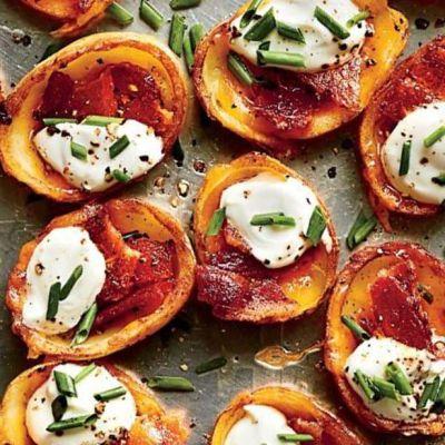 Barchette di patate al bacon