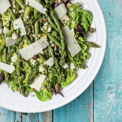 Insalata agli asparagi grigliati