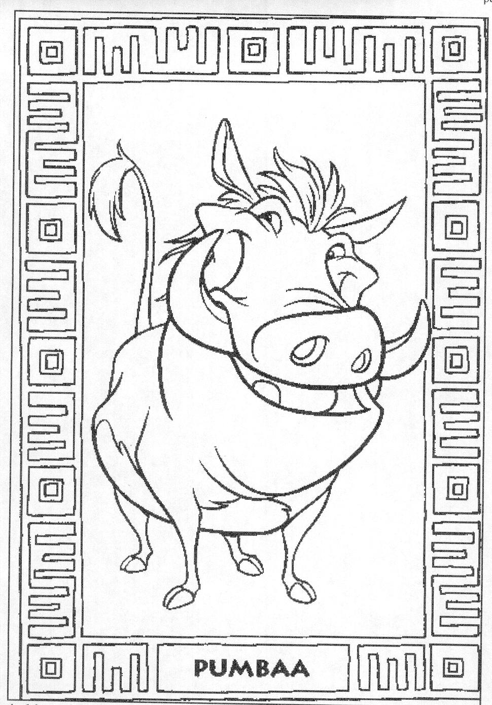 Coloring Page Disney Coloring Page The Lion King Picgifs