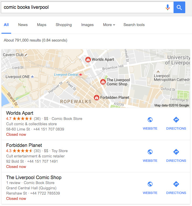 google-business-result