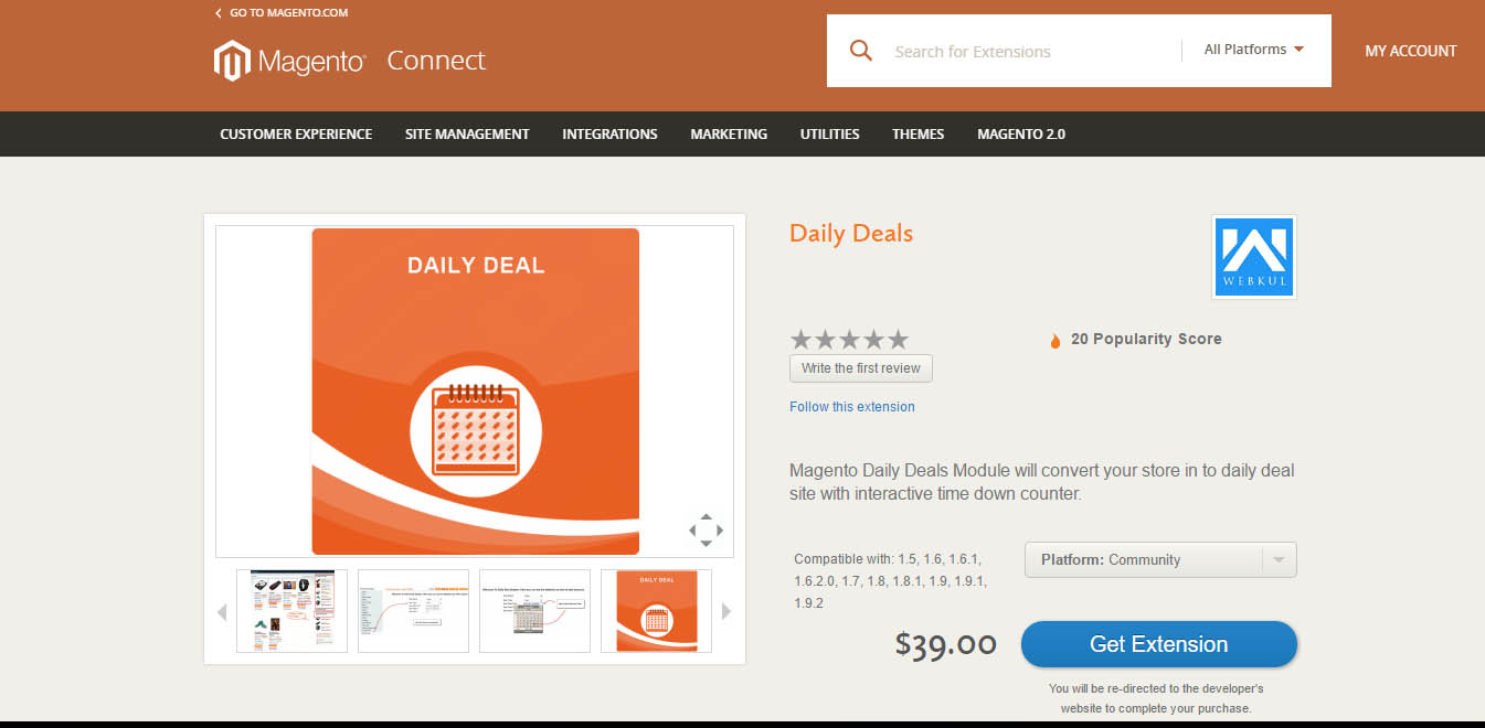 Daily Deals for Magento