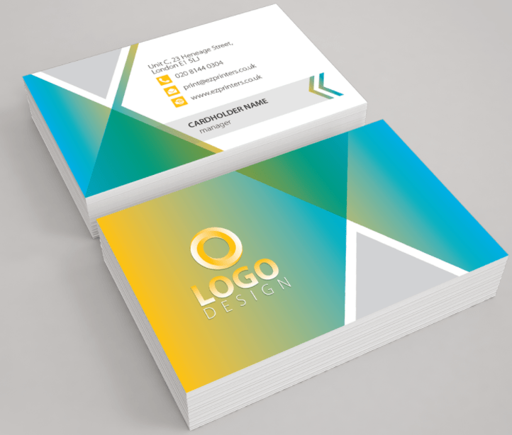 Best uk websites for business cards great quality litho printed standard business cards printed on a thick 450gsm silk board in full colour to single or both sides and finished with reheart Images